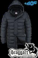 Куртка зимняя мужская на меху удлиненная Braggart Aggressive -  4672G графит
