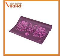 Коврик для йоги Лила Слоны (Bodhi) с рисунком