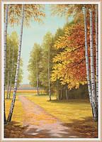 Фотообои бумажные: ЗОЛОТАЯ ОСЕНЬ изделие (ширина 140см высота 196см) из 8 листов