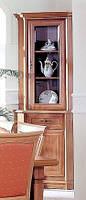 Гербор Соната витрина угловая с подставкой  2050х605х605мм каштан