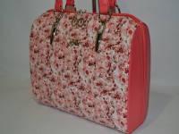 Женская сумка  Voila (Вуаля),  розовая с цветами