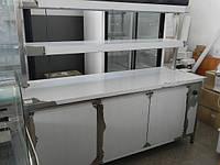 Стол тепловой с  надстройкой (2 полки) 2000х730х850
