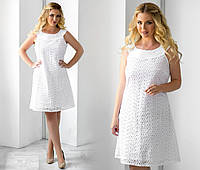 Платье беленькое