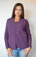 Кофта женская из ангоры (обманка) фиолетовая, 48-54 р-ры