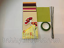 Набор для изготовления цветов из бумаги Маки