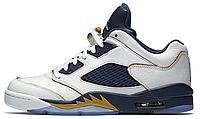 Баскетбольные кроссовки Nike Air Jordan 5 Retro (найк аир джордан ретро) белые