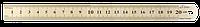 Линейка 1000x27мм из нержавеющей стали S-LINE
