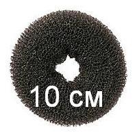 Бублик для гульки (пучка), диаметр 10 см. Причёска для бальных танцев, вечерняя причёска. Чёрный.