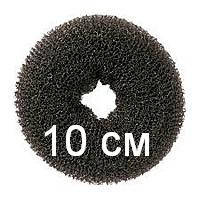 Бублик для гульки (пучка), диаметр 10 см. Причёска для бальных танцев, вечерняя причёска. Чёрный., фото 1