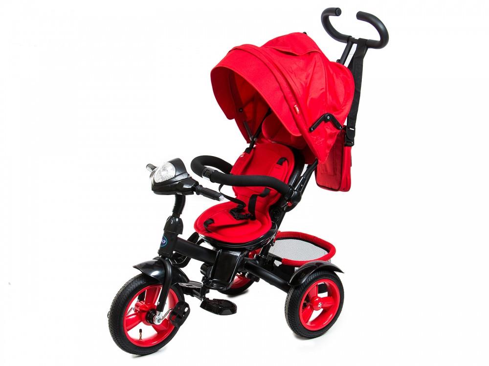 Трехколесный велосипед Neo 4 Air красный с фарой