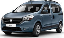 Защита заднего бампера на Dacia Dokker (c 2012--)