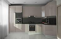 Кухня на заказ BLUM-026 краска по RAL каталогу