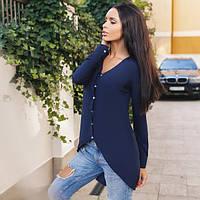 Блузка женская синяя ассиметрическая ВВ/-58