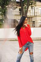 Блузка женская красная ассиметрическая ВВ/-58