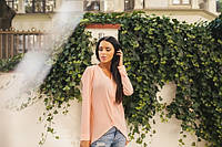 Блузка женская персиковая ассиметрическая ВВ/-58