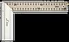Угольник 250мм нержавеющий с алюминиевой ручкой S-LINE