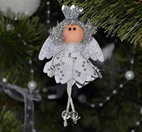 Новогодние украшения Ангелочек   серебро 0073, фото 2