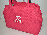 Женская сумка стеганная в стиле Шанель, розовая