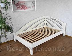 """Белая кровать из серии """"Радуга"""". Массив - ольха, береза, дуб., фото 2"""