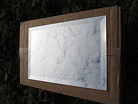 Зеркальная плитка серебро 300*600. зеркальная плитка киев. зеркальная плитка с фацетом. зеркальная, фото 1