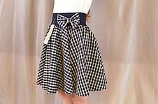 Красивая нарядная школьная юбка в клеточку на девочку., фото 3