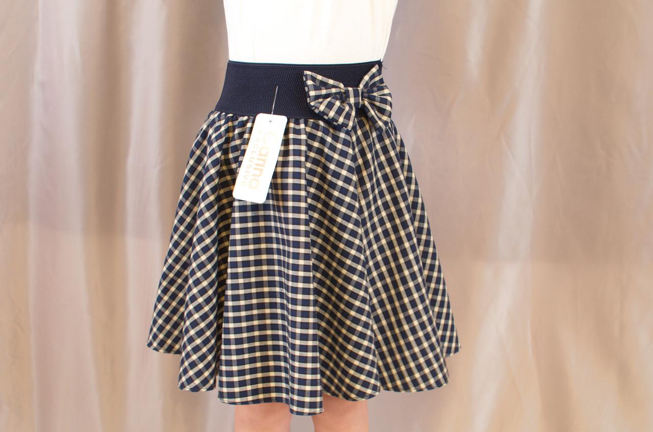 Красивая нарядная школьная юбка в клеточку на девочку.