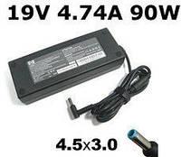 Блок питания зарядка для ноутбука HP/Compaq 19V, 4.74A, 90W, B klass, 4.5mm*3.0mm pin inside blue