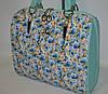 Женская сумка  Voila (Вуаля),  голубая с цветами