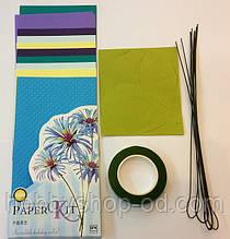 Набор для изготовления цветов из бумаги Васильки