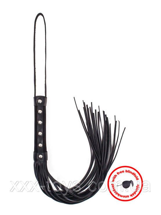 Класическая плеть с маской, Angel Touch, с черной ручкой