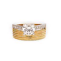 Золотое кольцо с цирконием р18