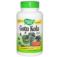 Экстракт Готу кола,  (Gotu Kola), Nature's Way, 475 мг, 180 капсул