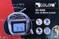 Пишуший приемник, бумбокс RХ-656Q AM/FM/SW USB/SD MP3 PLAY