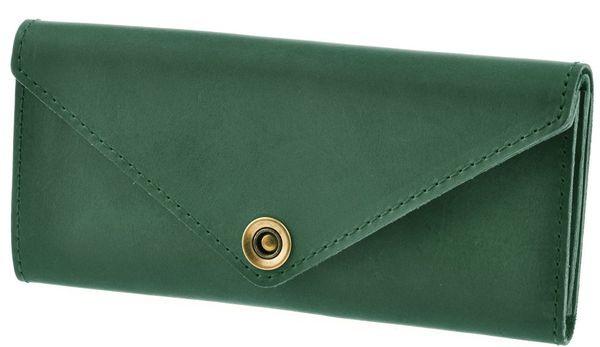 Современный женский кожаный кошелек BlankNote BN-W-1-iz зеленый