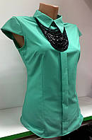 Блуза женская с бусами