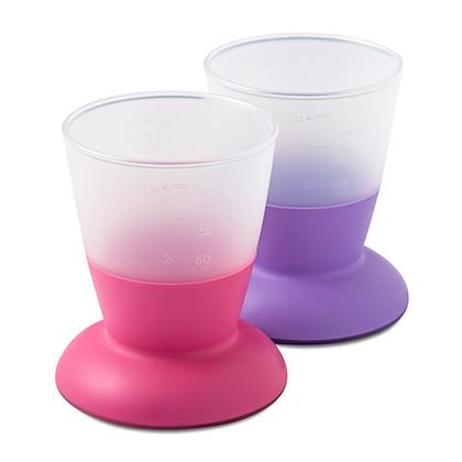 Две чашки Baby Bjorn, розовый/лиловый