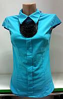 Блуза женская с бусами, фото 1