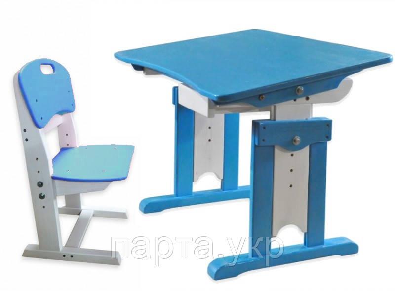 Детская парта и стульчик с регулировкой Морячок (дерево)