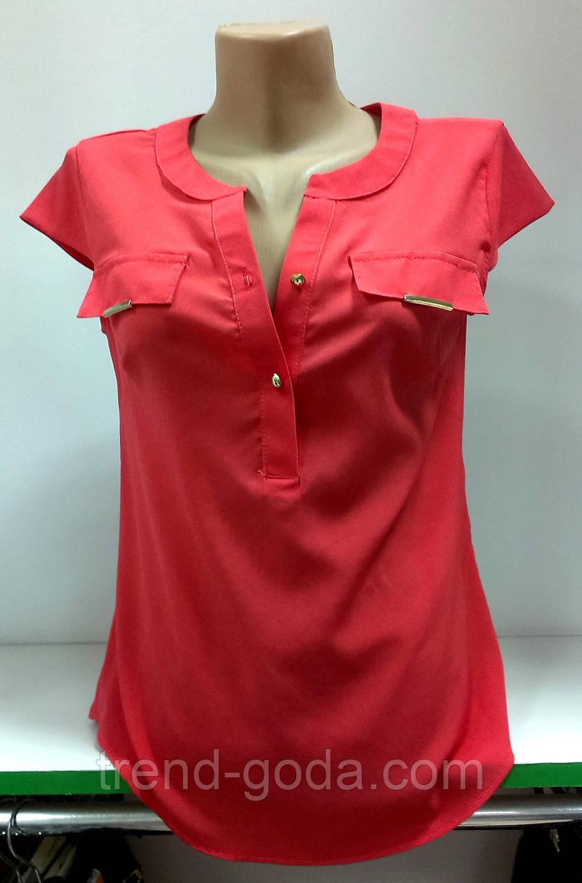 Блуза женская однотонная