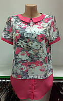 Блуза женская с цветами