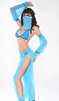 Костюм восточной танцовщицы голубой