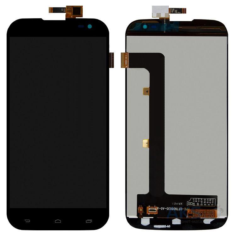 Дисплей (экран) для телефона BLU Studio 6.0 D650, Studio 6.0 HD D651L, Studio 6.0 HD D651U, Gigabyte GSmart Saga S3 + Touchscreen Original Black