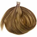 Славянские волосы на капсулах 50 см. Цвет #Русый, фото 2