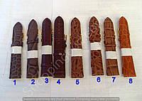 Ремешок для часов 22 мм 114203 искусственная кожа застежка пряжка разные цвета длина 21 см Польша