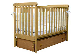 Детская кроватка Верес Соня ЛД12 резьба Лапки (продольный маятник, ящик)