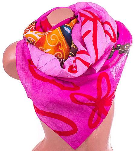 Оригинальный женский шарф из полиэстера 138 на 100 см ASHMA (АШМА) DS41-525-2 розовый