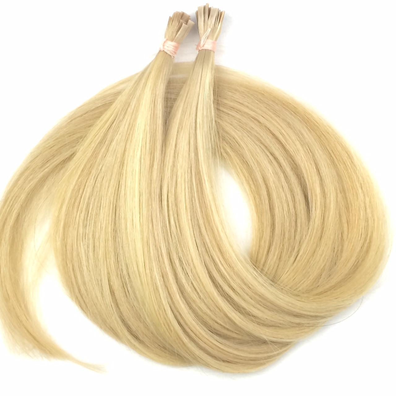 Славянские волосы на капсулах 50 см. Цвет #Блонд - Интернет-магазин REMI в Днепре