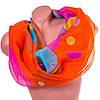 Необычный женский шарф из полиэстера 147 на 103 см BAOSIDI (БАОСИДИ) DS906-246-3 оранжевый