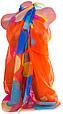Необычный женский шарф из полиэстера 147 на 103 см BAOSIDI (БАОСИДИ) DS906-246-3 оранжевый, фото 2