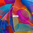 Необычный женский шарф из полиэстера 147 на 103 см BAOSIDI (БАОСИДИ) DS906-246-3 оранжевый, фото 3
